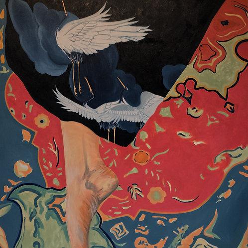 Falling as stars - 142x162cm