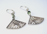 Custom order filigree heart silver studs by MQMORA Hand Crafted Jewelry