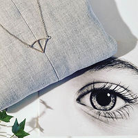 Silver Angles Necklace by MQMORA Hand Crafted Jewelry