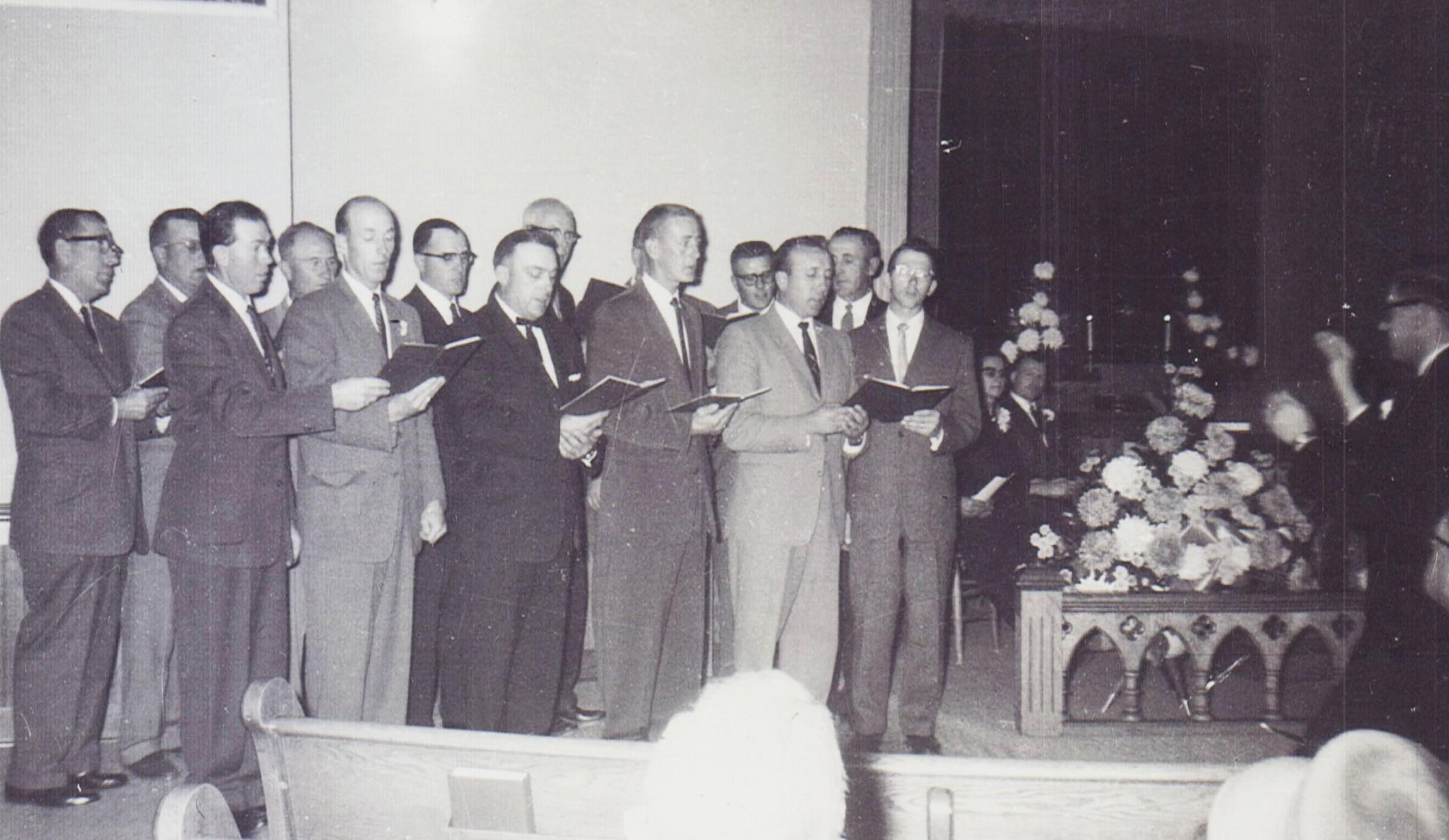 Men's Chorus Oct 1, 1961