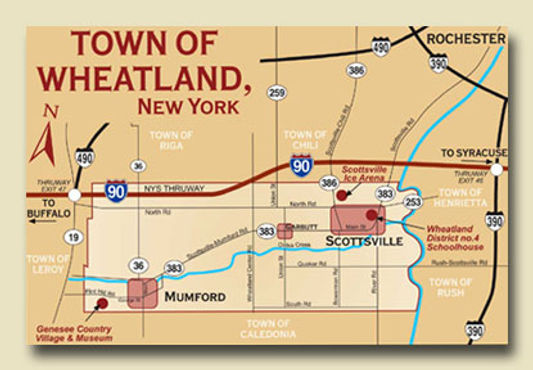 Town of Wheatland Map
