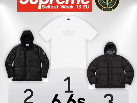 Supreme 2020FW Week13 EU・US オンラインアイテム配置情報・完売タイムランキング!!