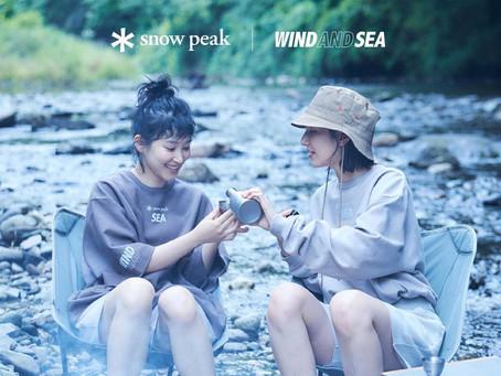 snow peak × WIND AND SEA コラボコレクション発売!