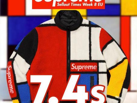 Supreme 2020FW Week8 EU・USオンラインアイテム配置情報・完売タイムランキング!!