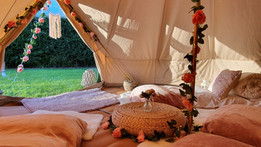 Boho bell tent hire