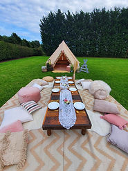 Boho and bell tent