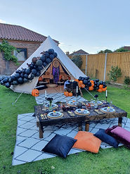 Halloween bell tent party