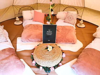 Boho chic bell tent party