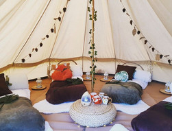 Camp out bell tent hire