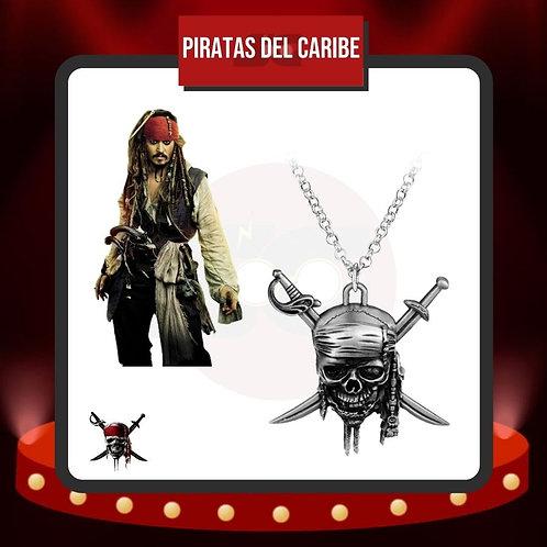 Collar Piratas del Caribe con Jack Sparrow