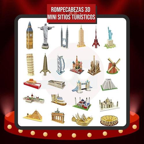 Rompecabezas 3D Mini Sitios Turísticos - Promoción x10 x5 x3 Unidades