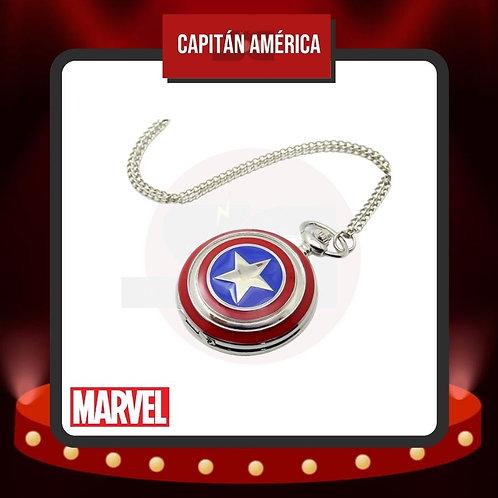 Reloj de Bolsillo Capitán América Cerrado de Marvel