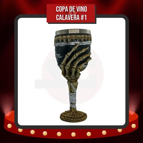 Copa de Vino Calavera #1