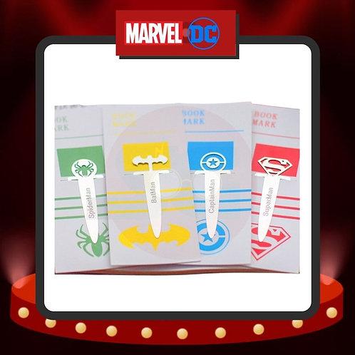 Marcapáginas Metalizados Alargados de Superhéroes