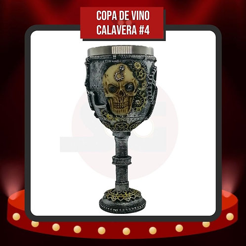 Copa de Vino Calavera #4