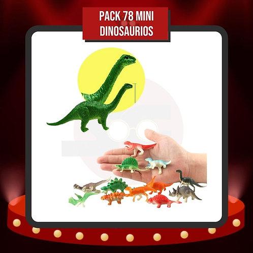 Pack 78 Mini Dinosaurios