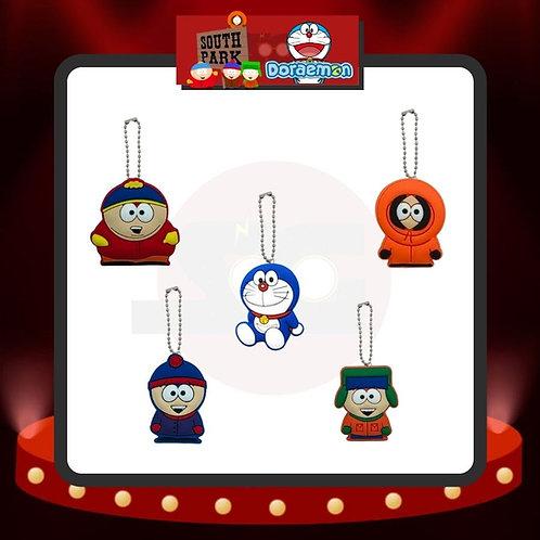 Colgantes South Park y Doraemon
