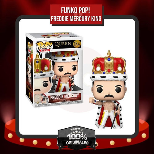 Funko Pop! Freddie Mercury King (184) en Caja