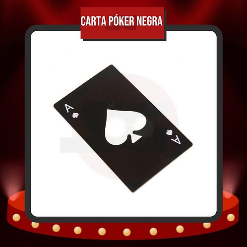 Destapador Carta Póker Negra