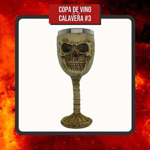Copa de Vino Calavera #3