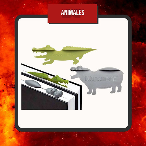 Marcapáginas Cocodrilo e Hipopotamo
