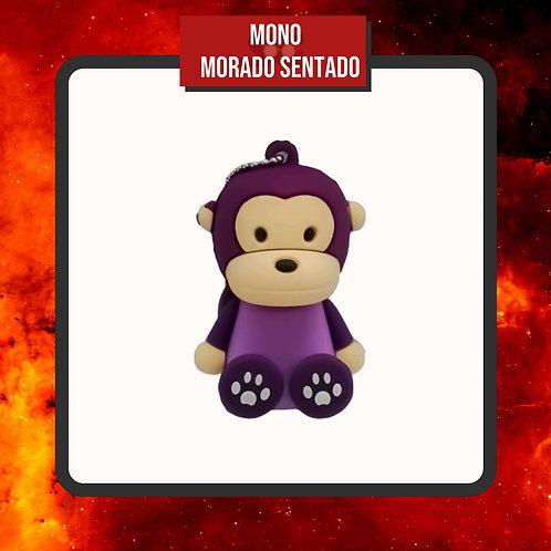 USB 16 Gb Mono Morado Sentado