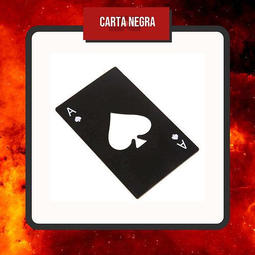 Destapador Carta Poker Negra