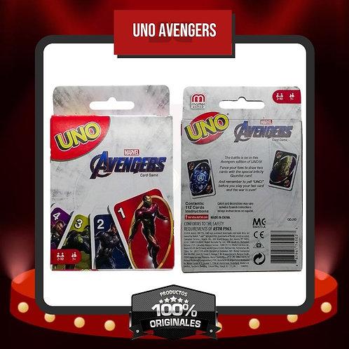 Caja Juego de Cartas UNO Avengers