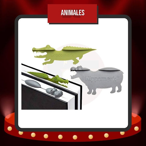 Marcapáginas Cocodrilo e Hipopótamo