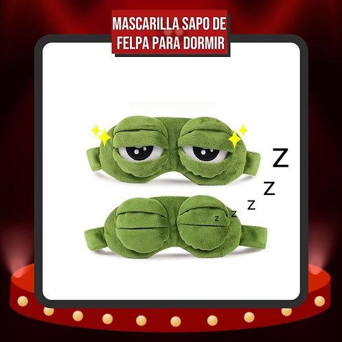 Máscara Sapo de Felpa Suave para Dormir