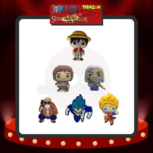 Pines para Crocs One Piece - Dragon Ball Z - Señor de los Anillos