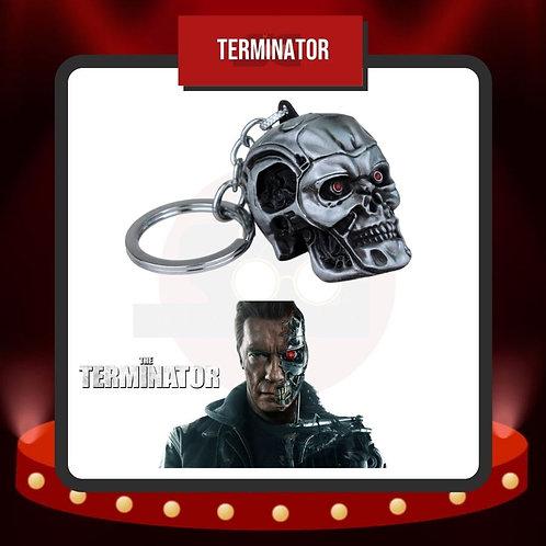 Llavero Cráneo Metálico Terminator T-800