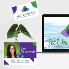 Feel Better Now Chiropractic Web Design and Marketing Materials