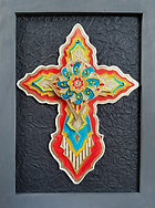 Painted Cross by Karen Austin