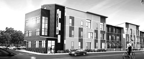 Architectural rendering of Artspace residences on Elm Street.