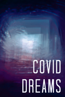 covid dreams by Hilary De Polo. Abstract dark room with light in doorway.