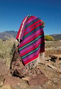 Blanket under Taos Sky, by Sandy Dolak
