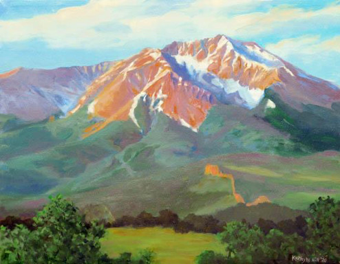 Spanish Peaks by Kathy Hill