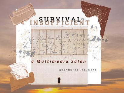 "CORAZON DE TRINIDAD CREATIVE DISTRICT TO HOST ""SURVIVAL IS INSUFFICIENT,"" A MULTIMEDIA SALON"