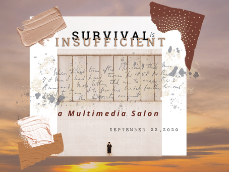 "CORAZON DE TRINIDAD CREATIVE DISTRICT TO HOST ""SURVIVAL IS INSUFFICIENT,"" A MULTIMEDIA SALON"