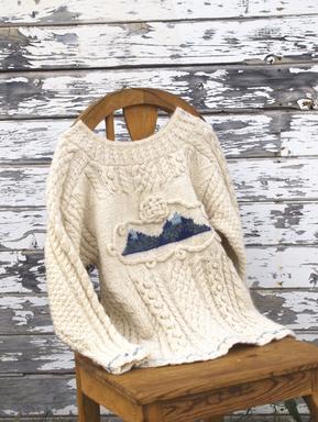 Two Peak Sweater, by Sandy Dolak