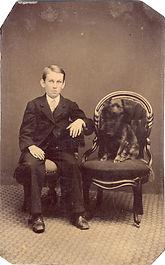Tintype - Boy and Dog