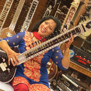 Trying out the Sitar