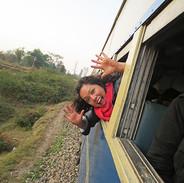 Enjoying the train