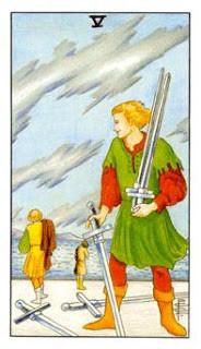 5 de Espadas como Arcano do Dia