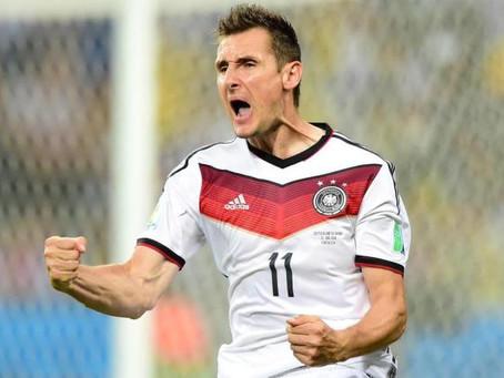 NUMEROLOGIA O gol histórico de Klose, da Alemanha, na Copa do Mundo 2014