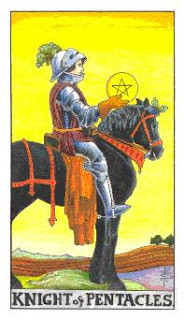Cavaleiro de Ouros como Arcano do Dia