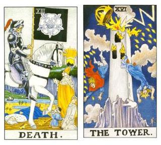 Detalhes sobre A Morte e A Torre como Arcanos do Dia