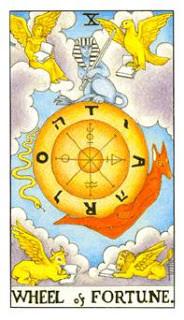 Roda da Fortuna como Arcano do Dia