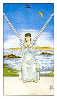2 de Espadas como Arcano do Dia